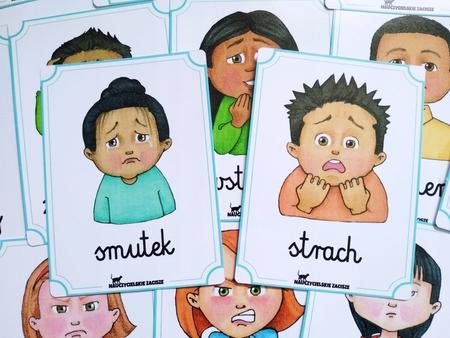 Plansze emocje, uczucia, nastrój dla dzieci