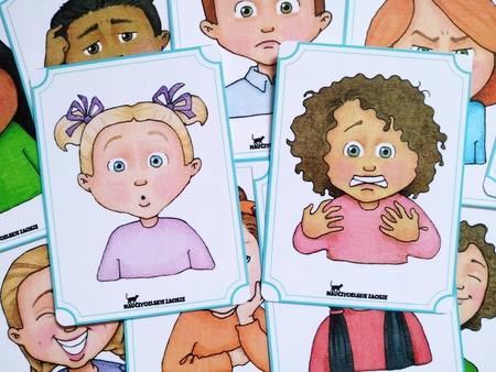 emocje uczucia fiszki plansze dla dzieci