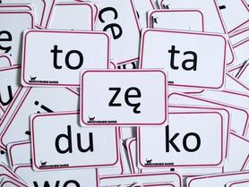 sylaby drukowane karty dla dzieci