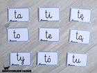 sylaby pisane otwarte karty dla dzieci