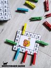 klamerkowy zestaw pomieszane litery pomoce dydaktyczne dla dzieci litery