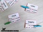 klamerkowe pomoce dydaktyczne części mowy edukacja wczesnoszkolna