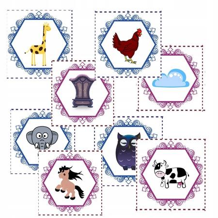 rymy karty edukacyjne dzieci przedszkole