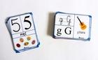fiszki z alfabetem i cyframi