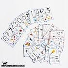 Alfabet Litery Cyfry 42 fiszki  8,5x6cm (4)