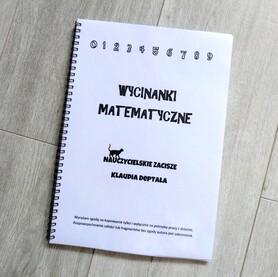 WYCINANKI MATEMATYCZNE - 83 karty z wklejkami i zadaniami