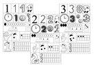 wycinanki matematyczne dla dzieci edukacja matematyczna wklejki puzzle dla dzieci pierwszaki