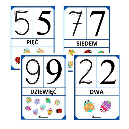 cyfry liczby plansze pokazowe demonstracyjne przedszkole szkoła matematyka