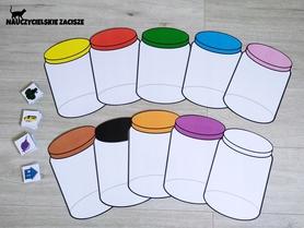 KOLOROWE SŁOIKI- 10 kolorów