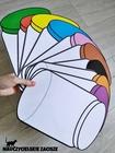 kolorowe słoiki nauka kolorów przedszkole