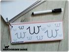 Litery Alfabet Nauka pisania KArty suchościeralne