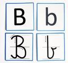litery drukowane pisane zestaw alfabet dla dzieci z kierunkiem pisania kreślenia przedszkole szkoła