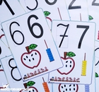 cyfry plansze pokazowe dla dzieci przedszkole