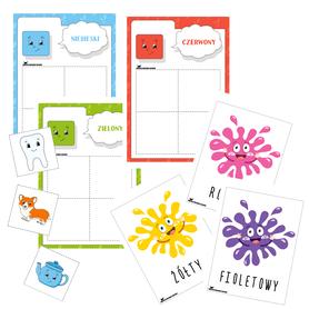 kolory nauka kolorów dla dzieci przedszkole