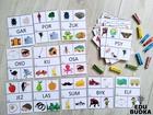 klamerkowy zestaw zadania pomoce dla dzieci przedszkole czytanie nauka