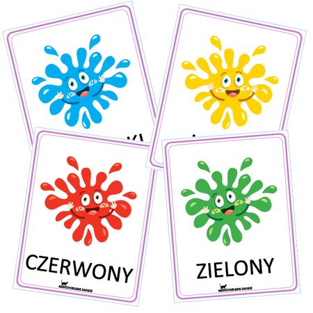 kolory plansze edukacyjne dydaktyczne pokazowe dla dzieci colours for kids