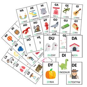 SYLABY 162 karty z obrazkami i wyrazami PLIK PDF