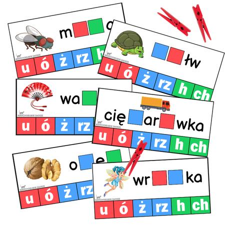 Kolorowa ortografia - 84 karty + 25 klamerek (1)