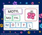 wyrazy sylaby litery układanka czytanie sylabowe dla dzieci