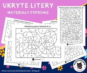 ukryte litery karty pracy dla dzieci hidden letters worksheets for kids